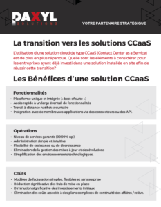 Solution de centre de contact cloud - CCaaS